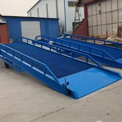 hydraulic movable yard dock ramps lift for container