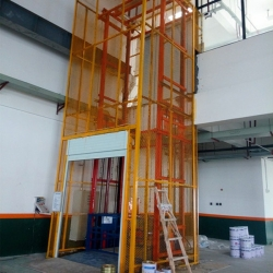 guide rail elevator for warehouse